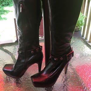 Rockin' Studded Stiletto Platform Boots